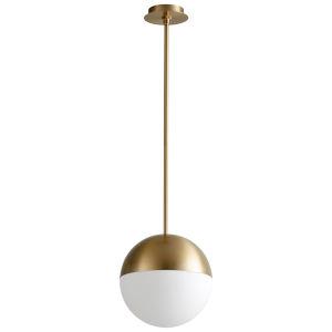 Mondo Aged Brass 12-Inch LED Pendant