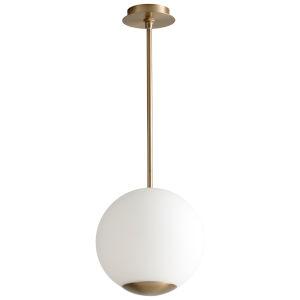 Terra Aged Brass 12-Inch LED Pendant