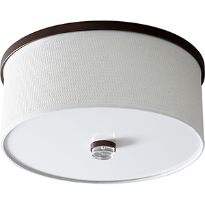 Echo Oiled Bronze Two-Light LED Flush Mount