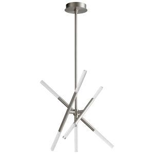 Moxy Satin Nickel Seven-Light LED Chandelier