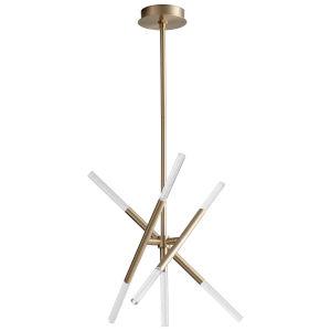 Moxy Aged Brass Seven-Light LED Chandelier