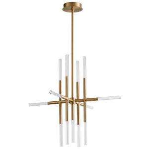 Moxy Aged Brass 13-Light LED Chandelier