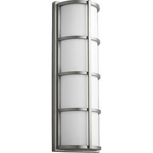 Leda Satin Nickel Two-Light LED Outdoor Wall Mount