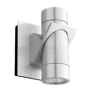 Razzo Brushed Aluminum Two-Light LED Outdoor Wall Sconce