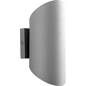 Scope Grey Two-Light LED Outdoor Wall Mount