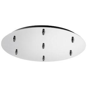 Polished Chrome Seven-Light Pendant Canopy Kit