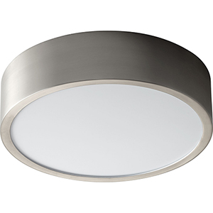Peepers Satin Nickel One-Light LED 120V/277V Flush Mount