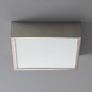 Pyxis Polished Nickel One-Light LED 120V/277V Flush Mount