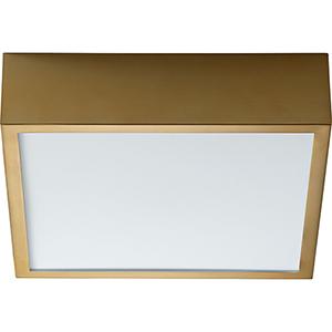 Pyxis Aged Brass One-Light LED 120V/277V Flush Mount
