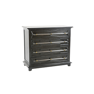 Hazel Clear Acrylic and Antique Brass 41-Inch Chest