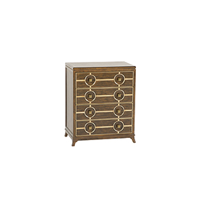 Costello Tuscan Brown and Antique Gold 26-Inch Chest