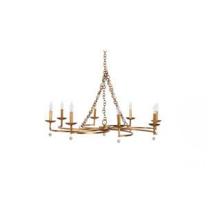 Carrie Antique Gold and Antique White Chandelier