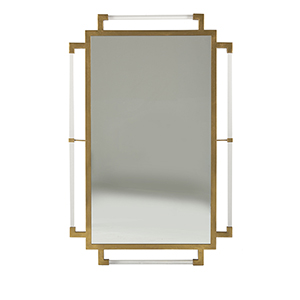 Huxley Antique Gold and Clear Acrylic 23-Inch Mirror
