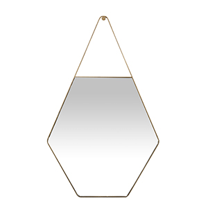 Lovell Brushed Gold 26-Inch Mirror