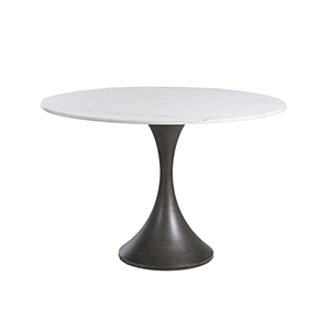 Cortez White Marble 48-Inch Dining Table