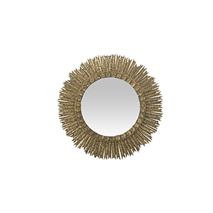 Ramona Antique Textured Gold 36-Inch Mirror