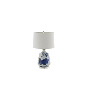 Haven Blue and White Ceramic 9-Inch Table Lamp