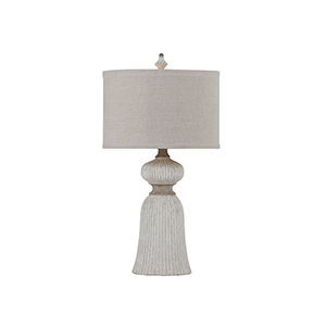Dawn Antique White and Antique Gold Leaf 7-Inch Table Lamp