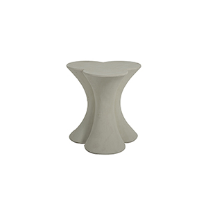 Carlin Textured Misty White End Table