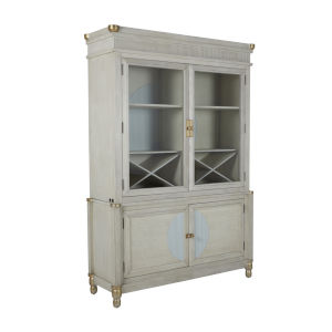 Clairmont Sesame White and Soft Sky Blue 60-Inch Cabinet