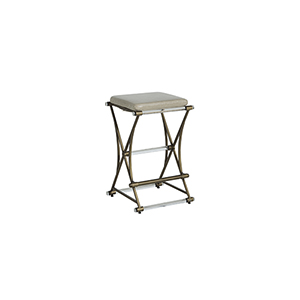 Flynn Clear Acrylic And Antique Gold Counter Stool