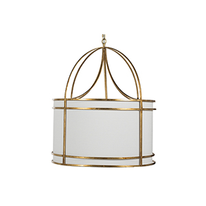 Gracie Gilded Gold And And White Four-Light ChAndelier