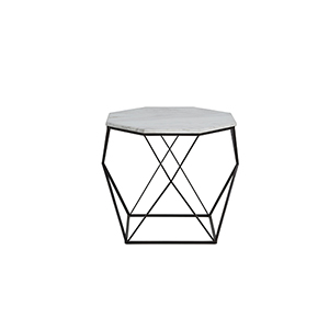 Kingstone Volakas Marble And Dark Bronze End Table