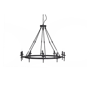 Dorian Rusty Black 10-Light Chandelier