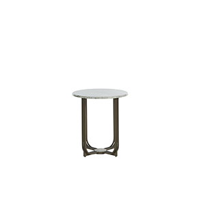 Greene Meadow Green Marble And Brushed Brass End Table