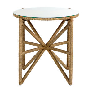 Nigel Natural Seagrass 27-Inch Side Table