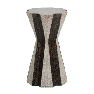 Dorina White and Black 14-Inch Side Table