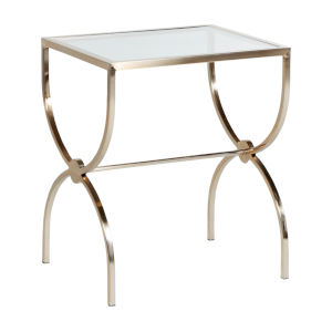 Michael Brushed Gold 24-Inch Nesting Table