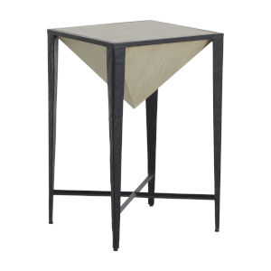 Elway Black and Cerused White Side Table