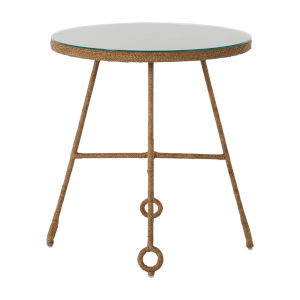 Dakota Natural Seagrass 24-Inch Side Table