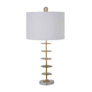 Gianna Vintage Gold and White One-Light Table Lamp
