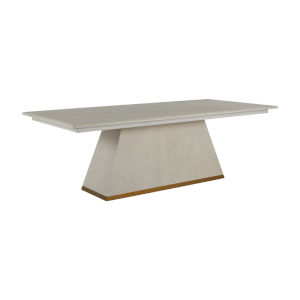 Ferris Cerused White and Gold Dining Table