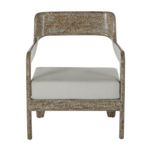 Raya White and Gray 26-Inch Lounge Chair