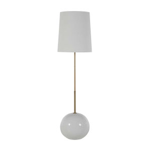 Hayward Matte Brass and White One-Light Floor Lamp
