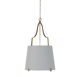 Arbella Vintage Gold and White Two-Light Pendant