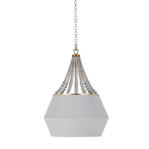 Soma Antique Gold and White Four-Light Pendant