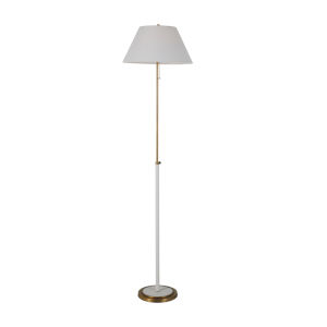 Vanna White and Antique Brass One-Light Floor Lamp