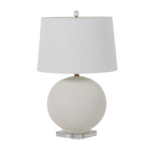 Wheeler White and Antique Brass One-Light Table Lamp