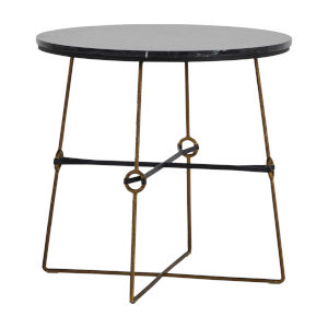 Stefan Black and Satin Brass Side Table