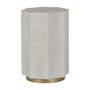 Bellany White and Amirah Gold Accent Table