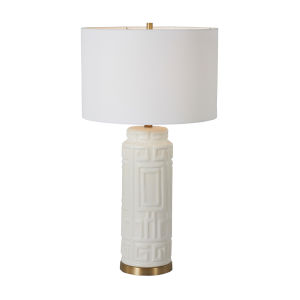 Osmond Matte Brass and White One-Light Table Lamp