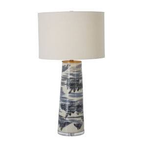 Elle Stained Gold and Gray One-Light Table Lamp