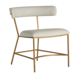 Matlock White and Gold Dining Chair