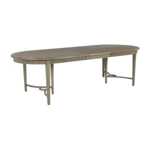 Whitlock Distressed Cream and Natural Dining Table
