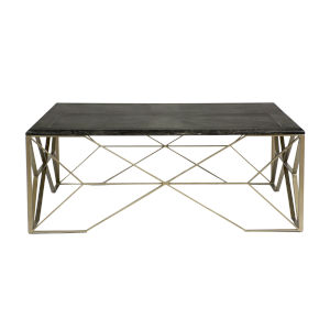 Theodore Dark Gray and Light Bronze Coffee Table