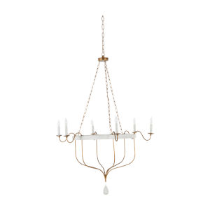 Karla Gilded Gold and Textured White Chandelier